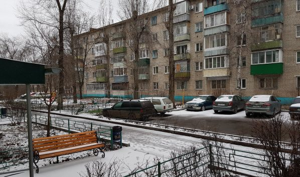 Первый снег в 2018 году.