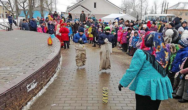 Празднование Масленицы в Воронеже.