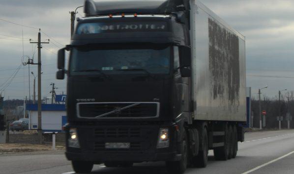 Горел грузовик Volvo.