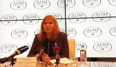 Эмилия Сухачева на пресс-конференции.