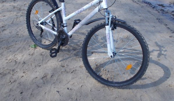 У женщины украли велосипед, разобрали и разбросали в поле.