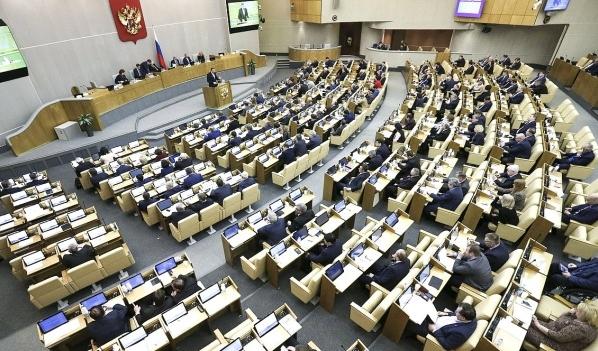 Пленарное заседание Госдумы.