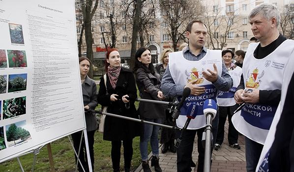Александр Гусев в Кольцовском сквере.