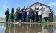 Александр Гусев в подтопленном Калачеевском районе.