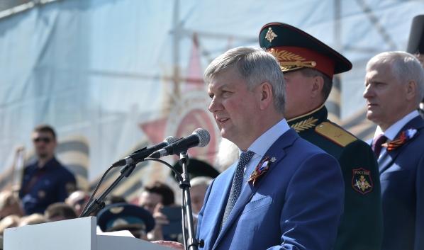 Александр Гусев на параде.
