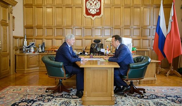 Встреча Александра Гусева и Владимира Салмина.