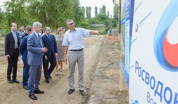 Александр Гусев на правобережных очистных сооружениях.
