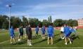 Сборная Марокко на стадионе в Воронеже.