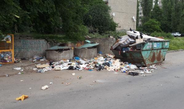 Вот так выглядит мусорка в Воронеже.