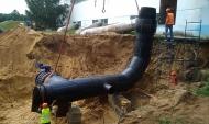 Монтаж водовода диаметром 1,2 метра на ВПС №8 в Воронеже.