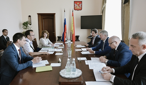 Встреча в правительстве Воронежской области.