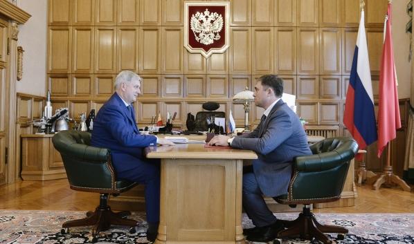 Встреча Александра Гусева с Максимом Увайдовым.