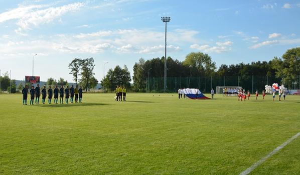На стадионе «Локомотив».