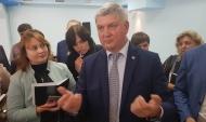 Александр Гусев после пресс-конференции.