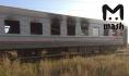Вагон поезда после пожара.
