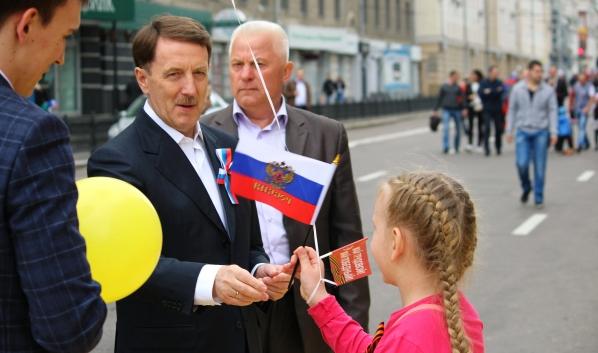 Алексей Гордеев на празднике в Воронеже несколько лет назад.