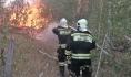 Воронежские спасатели ликвидируют крупный ландшафтный пожар.