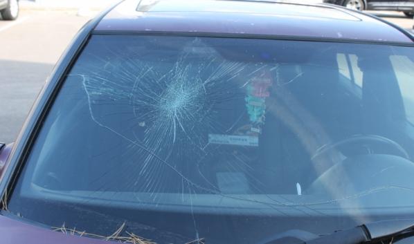 Машину разбили.