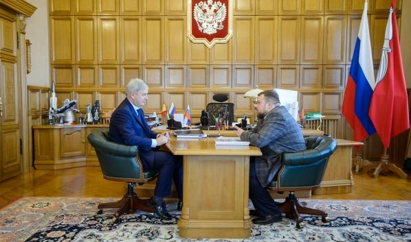 Рабочая встреча с Андреем Еренковым.