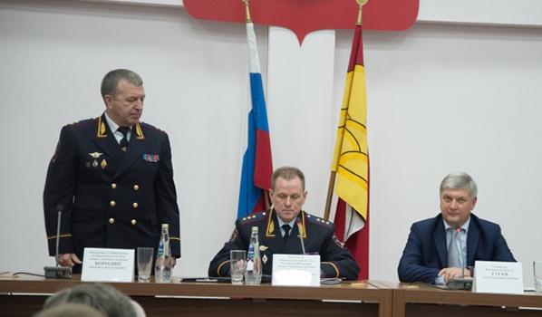 Михаила Бородина представили руководству и личному составу.