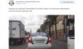 В Воронеже сфотографировали автомобиль контроля за платными парковками с листиком на номере.