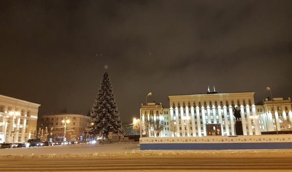 Главная городская ёлка Воронежа.
