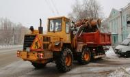 Уборка снега с улиц Воронежа.