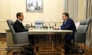 Дмитрий Медведев и Петр Фрадков.