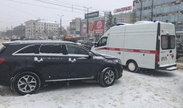Авария с машиной скорой помощи.
