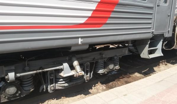 Пассажира сняли с поезда.