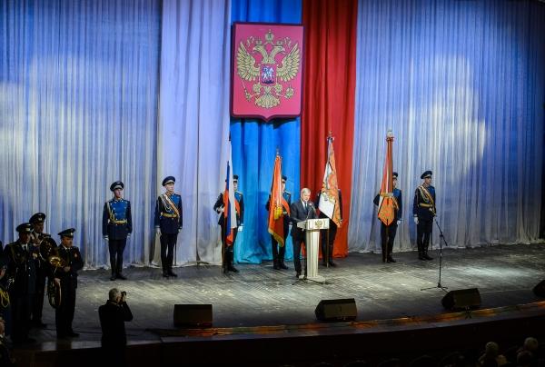 Поздравление военных в Концертном зале.