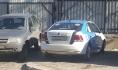 Машина «Горпарковок» стояла на тротуаре.
