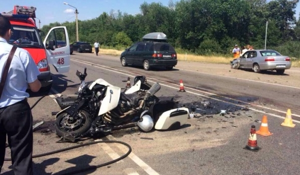 Авария с мотоциклом.