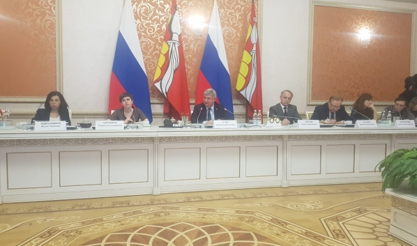 Александр Гусев на пресс-конференции.