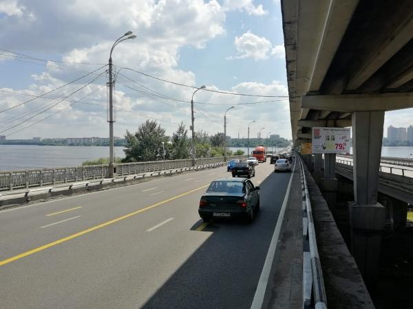 Работы на Северном мосту летом 2019 года.