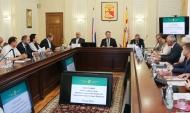 Заседание совета директоров промышленных предприятий Воронежа.