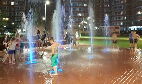 Купаться в фонтанах опасно для здоровья.