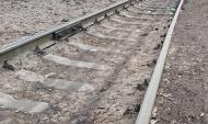 В заповеднике бросили шпалы от железной дороги.