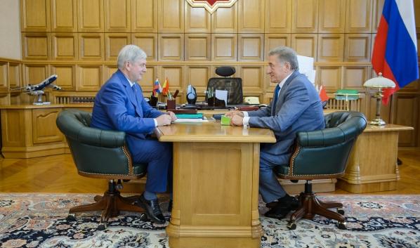 Встреча Александра Гусева и Сергея Лукина.