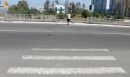 Переходы с неработающими светофорами.