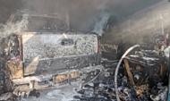 Машины сгорели.