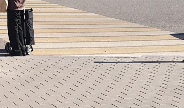 Разметка пешеходного перехода.