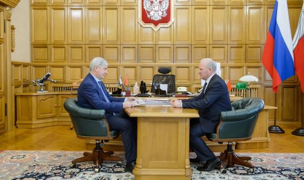 Встреча Александра Гусева с Михаилом Гордиенко