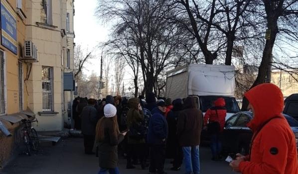 Очередь в наркодиспансер в Воронеже.