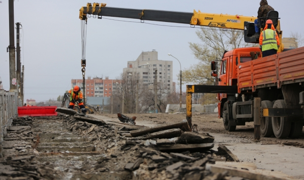 Реконструкция виадука на улице 9 Января.