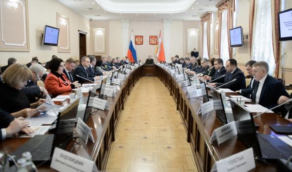 Заседание президиума правительства области.