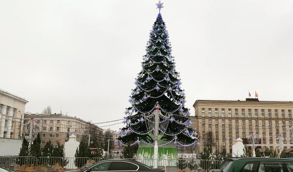Елка на площади Ленина.