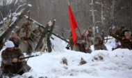 Реконструируют бои за Воронеж.