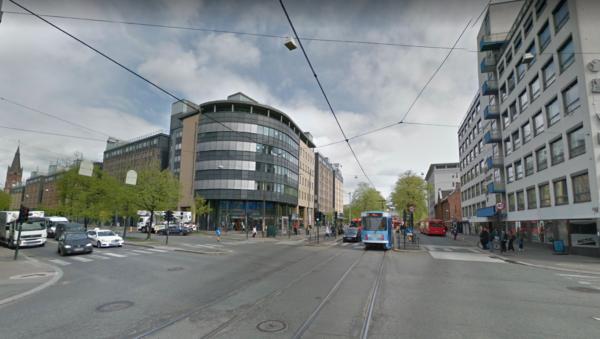 Перекресток в Осло.
