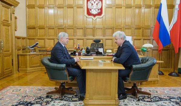 Встреча Александра Гусева с Владимиром Просветовым.